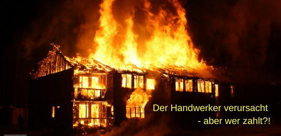 Feuer durch Handwerker