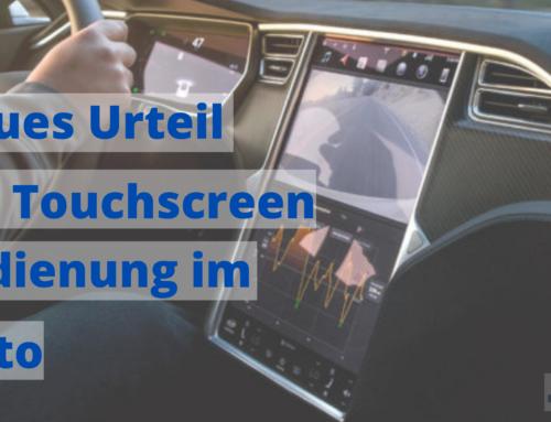 Touchscreen Bedienung im Auto